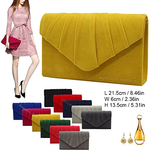 Prom Wocharm Bag Suede Grey Bridal Wedding Light Shoulder Handbag Clutch Purse Crossbody Evening Bag Envelope Ladies Women Party zrpwAxnqOz