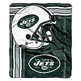 The Northwest Company NFL New York Jets Touchback Plush Raschel Throw, 50' x 60', Green