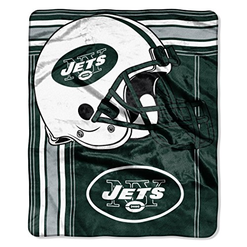 The Northwest Company NFL New York Jets Touchback Plush Raschel Throw, 50