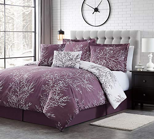Spirit Linen 6pc Warm and Cozy Comforter Set Platinum Bedding Collection Baby Soft Texture Plush Bed Blanket (Lilac, King)
