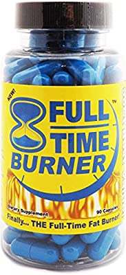 Full-Time Fat Burner - Get The Best Natural Fat Burning Supplement for Both Men and Women - Lose Weight With Weight Loss Diet Pills That Work Fast - 90 Capsules