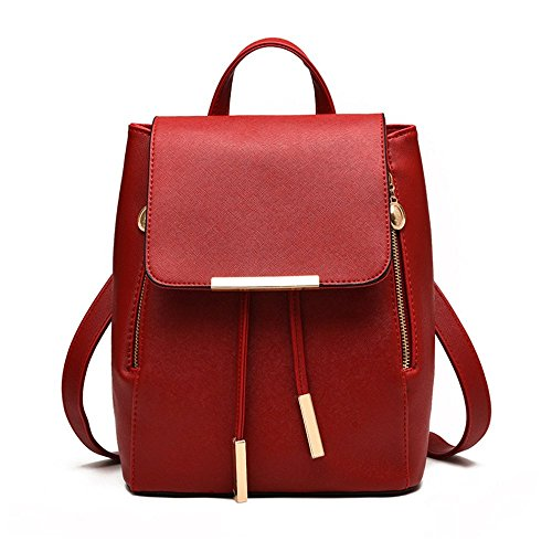Jonon Women's Modern Design Deluxe Fashion Backpacks (M, RED) by JONON