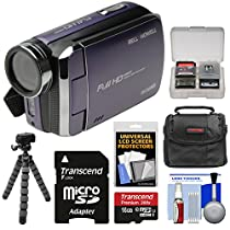 Bell & Howell DV30HD 1080p HD Video Camera Camcorder (Purple) with 16GB Card + Case + Flex Tripod + Kit