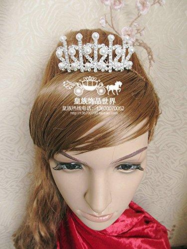 Quantity 1x Custom_ crystal _Cinderella_Albert_Sa- comb Crown Tiara Party Wedding Headband Women Bridal Princess Birthday Girl Gift Princess bride Headdress children with _mother_ pearl Korean Girls f