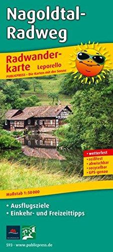 Nagoldtal-Radweg: Leporello Radtourenkarte mit Ausflugszielen, Einkehr- & Freizeittipps, wetterfest, reißfest, abwischbar, GPS-genau. 1:50000 (Leporello Radtourenkarte / LEP-RK)