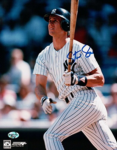 Steve Sax Signed 8X10 Photo Autograph New York Yankees After Swing Auto w/COA from Cardboard Legends Online