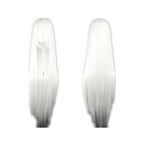 No/ël Perruques Cosplay pour Femmes Longue Raides Synth/étique Bleu Cheveux pour Halloween,Concerts,Mariages,Datant,Soir/ées /à Th/ème