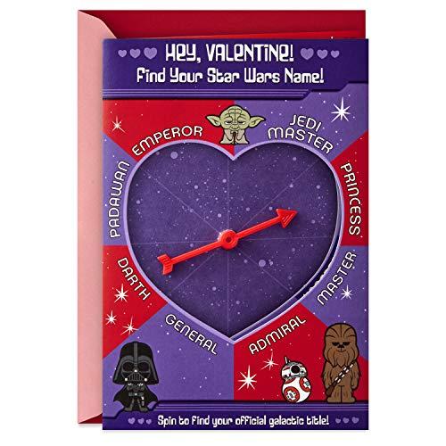 Hallmark Star Wars Valentines Day Card for Kids (Find Your Star Wars Name)