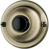 NuTone PB67AB Wired Unlighted Door Chime Push Button, Antique Brass
