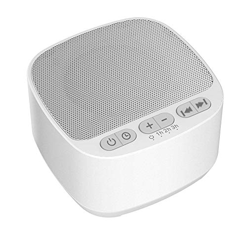 White Noise Machine,LOBKIN Sound Machine for Sleeping & Relaxation for Baby Kids and Adults Soft White Noise Sound Machine (White)