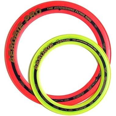 Aerobie Pro Ring (13 ) & Sprint Ring (10 ) Set, Random Assorted Colors