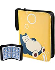 Hautton Card Binder Compatible with Pokemon Card, Carrying Case Trading Cards Holder Collector Album with Sleeves, 50 Premium 4-Pocket Pages, Holds Up to 400 Cards