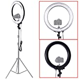 """Neewer Camera Photo/Video 18""""Outer 14""""Inner 600W 5500K Dimmable Ring Fluorescent Flash Light"""