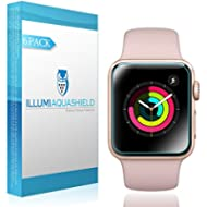 Apple Watch Screen Protector 38mm [6-Pack], (Series 3/2/1 Compatible) ILLUMI AquaShield Full...