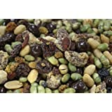 Trail Mix - 4 PACK- All Natural Mrs Bryant's Super Food Raw Fruits,Dry Roasted Edamame, Praline Pecans, Dark Chocolate Peanuts, Redskin Peanuts Trail Mix. 8 oz. per package - 2 POUNDS Total