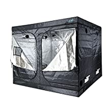 "Quictent SGS Approved Eco-friendly 96""x96""x78"" Reflective Mylar Hydroponic Grow Tent with Obeservation Window and waterproof Floor Tray for Indoor Plant Growing"