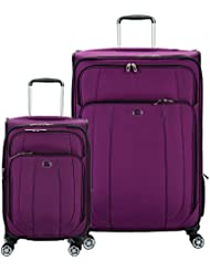 Delsey Luggage Helium Cruise 21 and 29 Spin Lug, Purple
