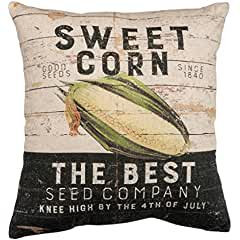 Primitives by Kathy Linen Blend Sweet Corn Vintage Throw Pillow