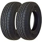 Set of 2 New Trailer Tires ST 205/75R15 8PR Load Range D