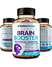 41 in 1 Brain Booster Supplement for Focus, Memory, Clarity, Energy, Concentration   Natural Nootropics Brain Support Supplement with DMAE, Bacopa Monnieri & More   for Men & Women   120 V Capsules