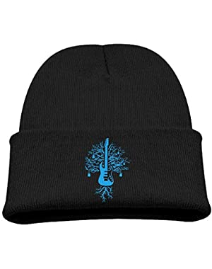 Unisex Youth Adjustable Skull Caps Slouchy Knit Hat For Guitar Of Life! Tree Of Life Guitar