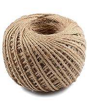خيط جوت طبيعي مزدوج من جميو، يستخدم للف هدية والمشغولات اليدوية، والهدايا، والزفاف، والديكور، والزخرفة