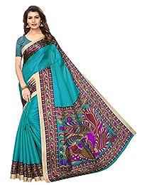 CRAFTSTRIBE Indian Wedding Wear Khadi Silk Traditional Saree Bollywood Printed Party Wear Dress Women Sari