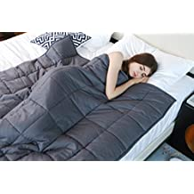 Weighted Blanket by YnM for Adults(12 lbs for 110 lbs individual), Fall Asleep Faster and Sleep Better, Great for Anxiety, ADHD, Autism, OCD, and Sensory Processing Disorder(48''x72'')