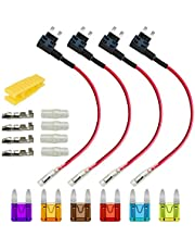Gebildet 4 stuks 32 V 20 A standaard add-A-circuit zekeringhouders voor auto, adapter met zekeringhouder ACU, met 6 stuks platte zekeringen en 1 trekker ...