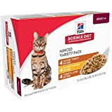 Hill's Science Diet Diet Adult Wet Cat Food, Savory Entrée Variety Pack Canned Cat Food, 5.5 oz, 12 Pack