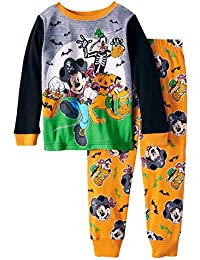 Mickey Mouse Halloween Glow-in-The-Dark Cotton Tight Fit Pajamas, 2