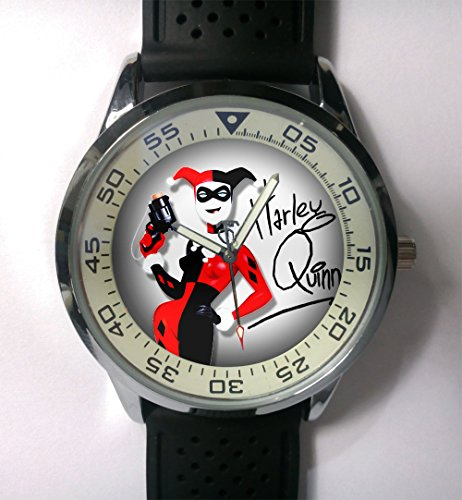 DC+Comics+Watch Products : New Custom Personality Harley Quinn Dc Comic Wristwatch New Rubber Band