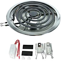 "Whirlpool Terminal Block, 4 Turn 8"" Surface Element and 8"" Chrome Drip Pan"