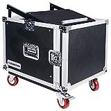 Sound Town 8-Space PA/DJ Pro Audio Rack/Road Case