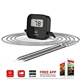 ALL NEW-UPGRADED Wireless/Bluetooth Digital Meat Thermometer By Cappec| The Best /BBQ Thermometer W/ Updated App| iPhone iOS & Android Compatible| Instant Readings-80ft Radius