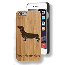 """Personalized Bamboo Case for iPhone 6/6s PLUS (5.5"""") - Dog Dachshund"""