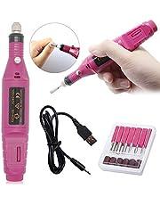 USB Elettrico Manicure e Pedicure Elettrico Professionale Kit, Trapano Chiodo per Casa e Salone con Set Strumenti di Lucidatura con 6 Accessori(15000rpm)