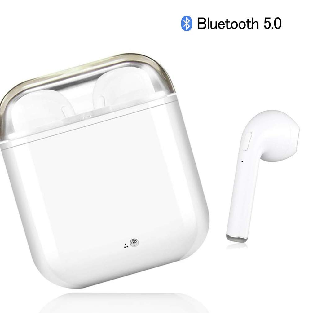BJJMJY Bluetooth Headset, Mini Stereo in-Ear Headphones TWS Headset Microphone, Compatible with All Bluetooth Smart Devices
