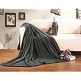Elegant Comfort Ultra Super Soft Fleece Plush Blanket King/Cal King Gray