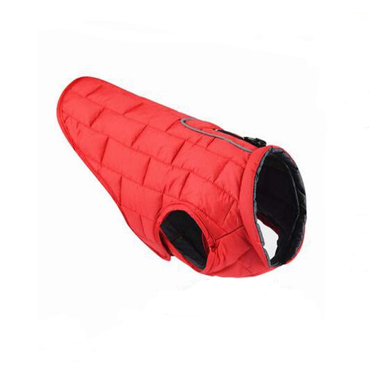 Red L Red L Pet Waterproof Clothing, Medium Dog, Big Dog Cotton Vest (color   Red, Size   L)