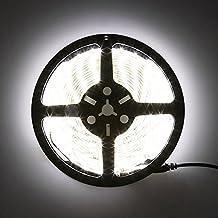LEDMO Non-Waterproof Flexible LED Strip Lights,DC12V LED Light Strip,LED Tape ,Super Bright 300 Units SMD5630 LEDs,Daylight White 6500K,16.4Ft/5M