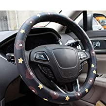 Cartoon Car Steering Wheel Cover Microfiber Leather Environmentally Friendly Inner Ring Four Seasons Universal Non-Slip Wear-Resistant 38Cm/15 Inch
