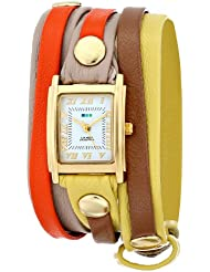 La Mer Collections Womens LMLWMIX1001 Woodstock Mix-Up Layer Wrap Watch
