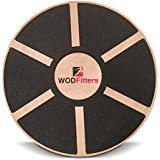 "WODFitters Balance Board - Premium Wooden Wobble Board - 16"" Round Balance Trainer - Fit Board/Exercise Board For Core Training Fitness Workouts, Physical Therapy & Rehabilitation - w/Carrying Bag"