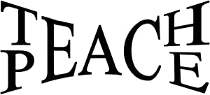 WMdecal Removable Teach Peace Quote Design Decal Sticker Wall Vinyl Art Words Decor for Living Room 28