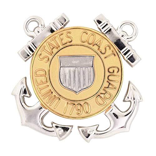 Medals of America Coast Guard (USCG) Cap Device Enlisted Miniature Size Gold Miniature