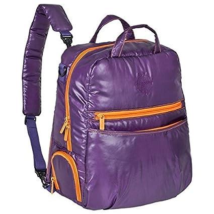 Lässig – Mochila para pañales Glam Backpack purple/orange