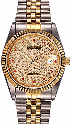 Fanmis Luxury Women's Wrist Watch Gold Quartz Watch Two Tone Stainless Steel Watch (Womens Watch Luxury Tone Two)