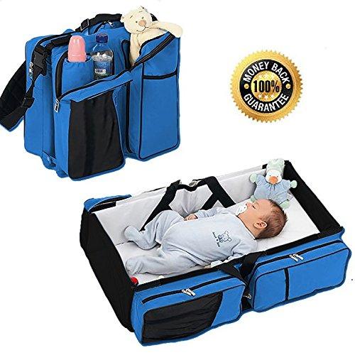 Boxum 3 in 1 Portable Bassinet Diaper Change Station, Blue