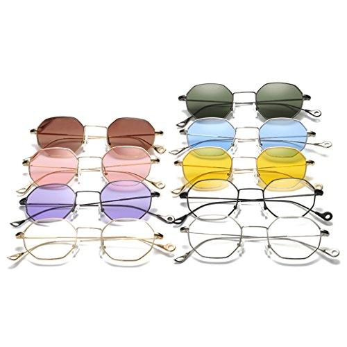 hexagonale d'extérieur carré Gtea Loegrie classique 1 Eyewear métal soleil Nuances de Mode Homme nbsp;paire en Lunettes Femme xfYXZ4f